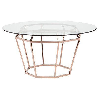 Diamond Dining Table Finish: Rose Gold