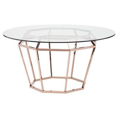 Diamond Dining Table Finish: Rose Gold