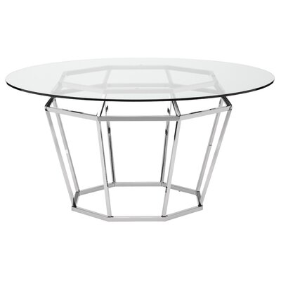 Diamond Dining Table Finish: Silver