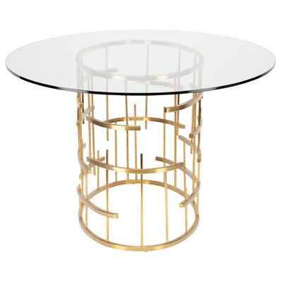 Tiffany Dining Table Finish: Rose Gold