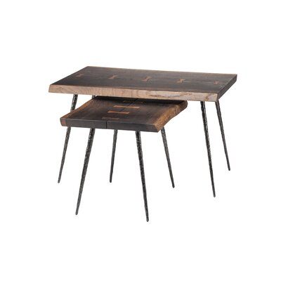 Nexa 2 Piece Nesting Tables Finish: Seared