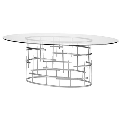 Tiffany Dining Table Finish: Silver
