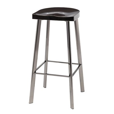 Icon Bar Stool Finish: Black