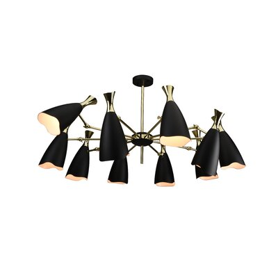 Dority 10-Light Sputnik Chandelier Shade Color: Black