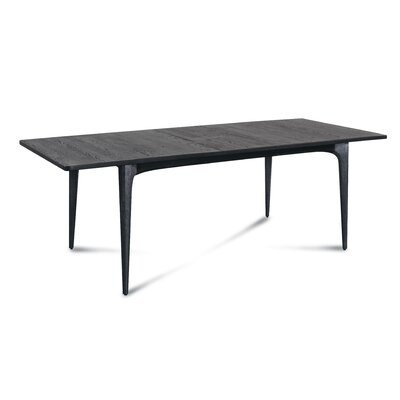Bullard Extendable Dining Table Base Color/Top Color: Charred Black/Charred Black