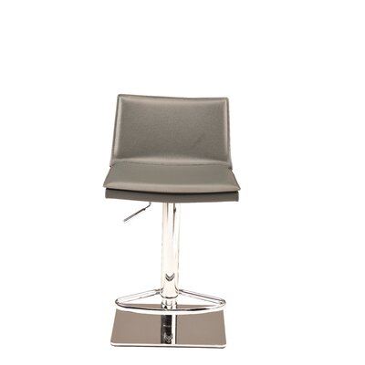 Trixie Adjustable Height Bar Stool Upholstery: Dark Gray