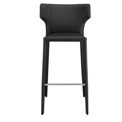 Wilfried 30 Bar Stool Upholstery: Black