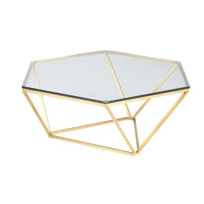 Kazell Coffee Table Base Color: Brushed Gold