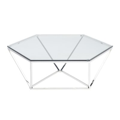 Kazell Coffee Table Base Finish: Polished Silver