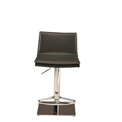 Trixie Adjustable Height Bar Stool Upholstery: Black