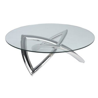 Jaryd Coffee Table Base Color: Polished Silver