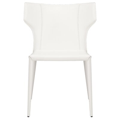 Wilfried Stackable Upholstered Dining Chair Upholstery Color: White