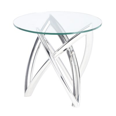 Jaryd End Table Table Base Color: Polished Silver