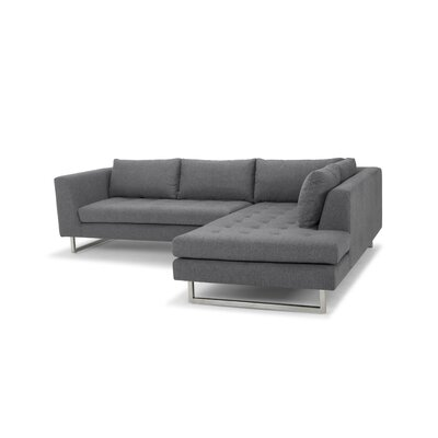 Jaquil Sectional Orientation: Right Hand Facing, Upholstery: Shale Gray