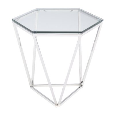 Kazell End Table Table Base Color: Polished Silver