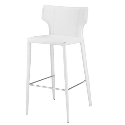 Wilfried 25.5 Bar Stool Upholstery: White