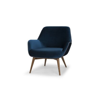 Jedediah Armchair Upholstery: Midnight Blue, Piping: Dust Blue