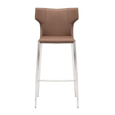 Wilfried 25.5 Upholstered Bar Stool Upholstery: Mink