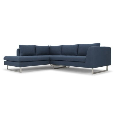Jaquil Sectional Orientation: Left Hand Facing, Upholstery: Lagoon Blue