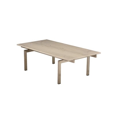 Carsten Coffee Table Table Base Color: Polished Silver, Table Top Color: White
