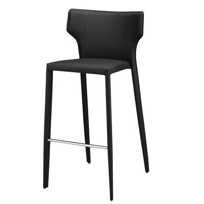 Wilfried 25.5 Bar Stool Upholstery: Black