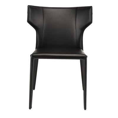 Wilfried Stackable Upholstered Dining Chair Upholstery Color: Black