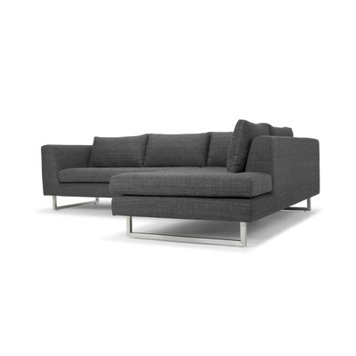 Jaquil Sectional Orientation: Right Hand Facing, Upholstery: Dark Gray