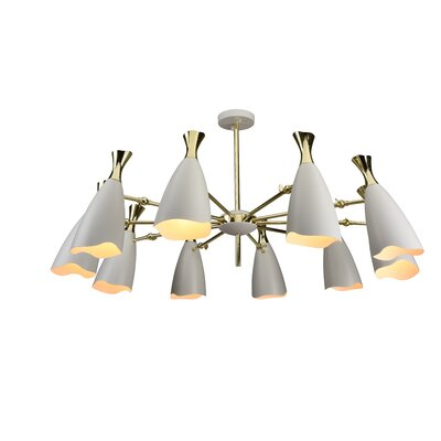 Dority 10-Light Sputnik Chandelier Shade Color: White