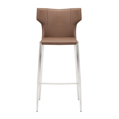 Wilfried 30 Upholstered Bar Stool Upholstery: Mink