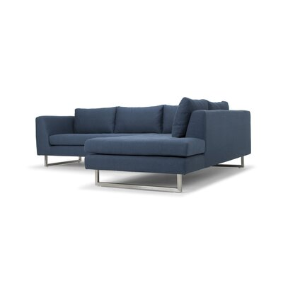 Jaquil Sectional Orientation: Right Hand Facing, Upholstery: Lagoon Blue