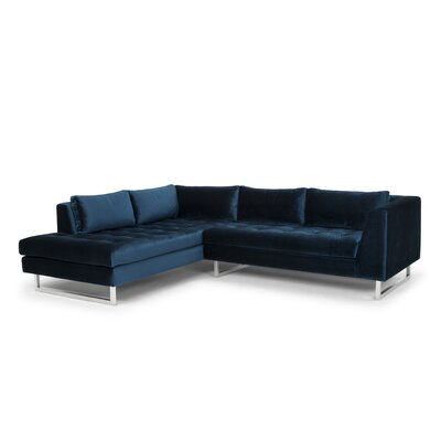 Jaquil Sectional Upholstery: Midnight Blue, Orientation: Left Hand Facing