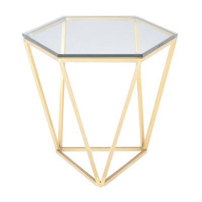 Kazell End Table Table Base Color: Brushed Gold