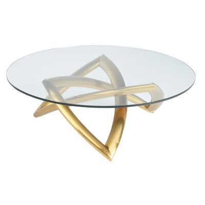 Jaryd Coffee Table Base Finish: Brushed Gold