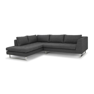 Jaquil Sectional Orientation: Left Hand Facing, Upholstery: Dark Gray