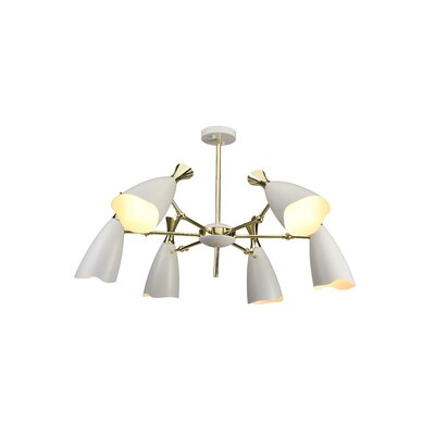 Dority 6-Light Sputnik Chandelier Shade Color: White