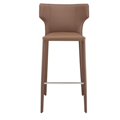 Wilfried 25.5 Bar Stool Upholstery: Mink