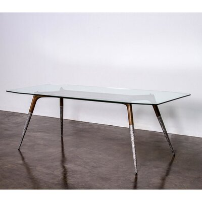 Dibenedetto Dining Table Size: 29.8 H x 39.8 W x 102.8 L