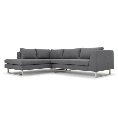 Jaquil Sectional Upholstery: Shale Gray, Orientation: Left Hand Facing