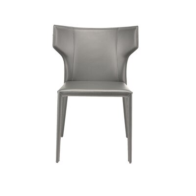 Wilfried Stackable Upholstered Dining Chair Upholstery Color: Dark Gray