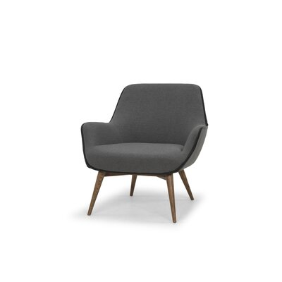 Jedediah Armchair Upholstery: Slate Gray, Piping: Black
