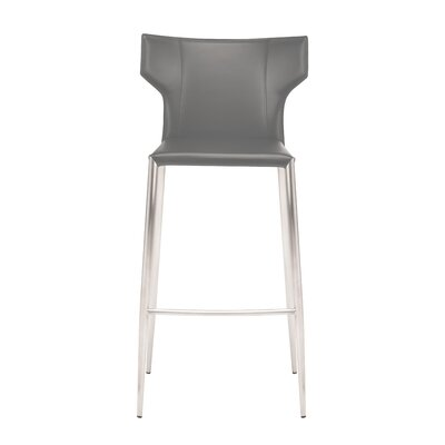 Wilfried 25.5 Upholstered Bar Stool Upholstery: Dark Gray