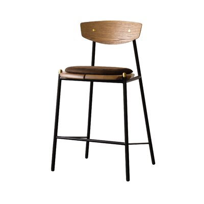 Aldo Bar Stool Upholstery: Umber Tan