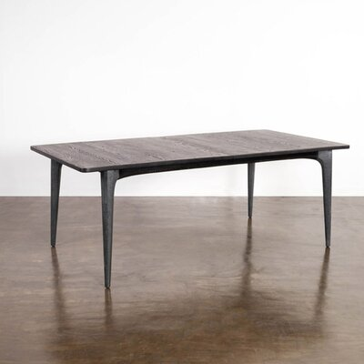 Bullard Extendable Dining Table Base Color/Top Color: Gray/Seared Oak