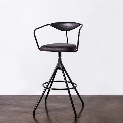 Dhrub Bar Stool Upholstery: Storm Black