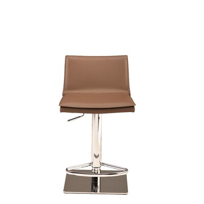 Trixie Adjustable Height Bar Stool Upholstery: Mink