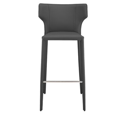 Wilfried 30 Bar Stool Upholstery: Dark Gray