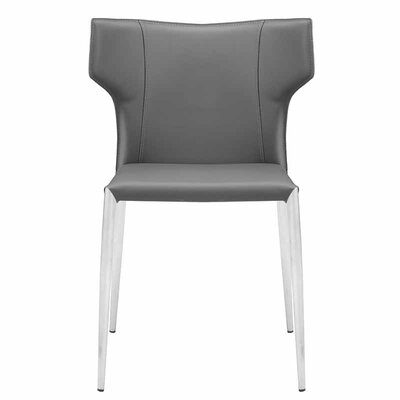 Wilfried Upholstered Dining Chair Upholstery Color: Dark Gray