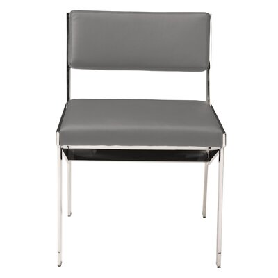 Rouge Upholstered Dining Chair Upholstery Color: Gray Naugahyde