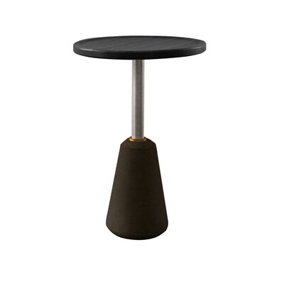 Lindzee End Table Table Base Color: Black, Table Top Color: Charred Black