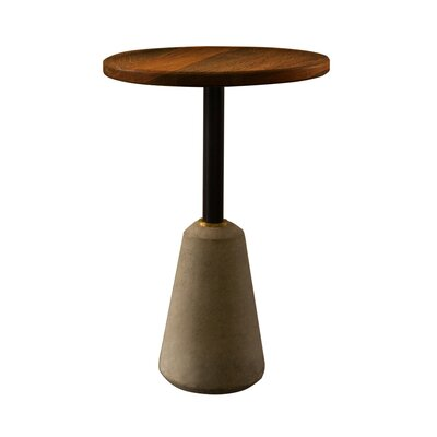Lindzee End Table Table Base Color: Gray, Table Top Color: Seared Oak